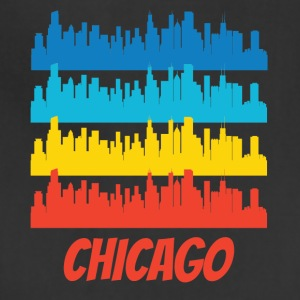Retro Chicago IL Skyline Pop Art - Adjustable Apron