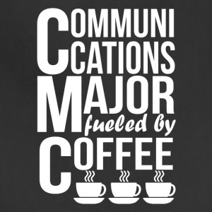 Communications Major Fueled By Coffee - Adjustable Apron