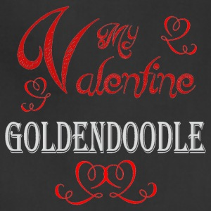 A romantic Valentine with my Goldendoodle - Adjustable Apron
