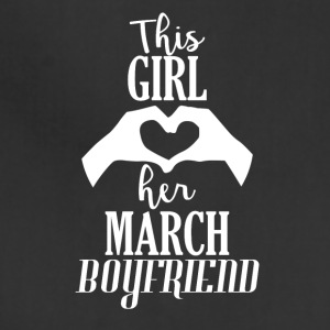 This Girl loves her March Boyfriend - Adjustable Apron