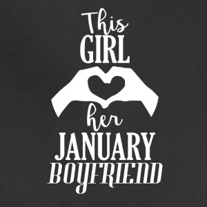 This Girl loves her January Boyfriend - Adjustable Apron