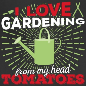 I love gardening from my head tomatoes (light) - Adjustable Apron