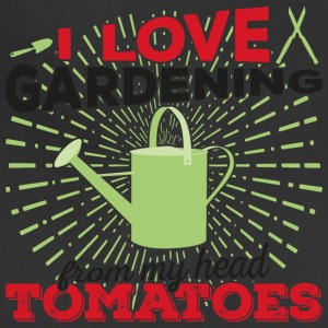 I love gardening from my head tomatoes (dark) - Adjustable Apron