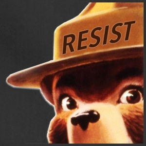smoky says resist - Adjustable Apron