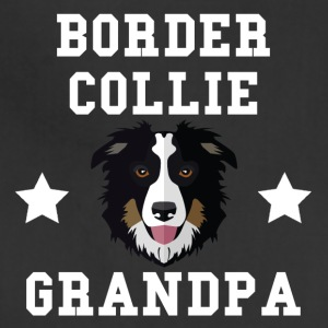 Border Collie Grandpa Granddog - Adjustable Apron