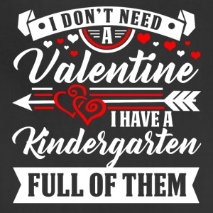 KINDERGARTEN-Valentine T-Shirt and Hoodie - Adjustable Apron