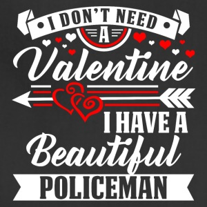 Valentineday - BEAUTIFUL POLICEMAN T-Shirt - Adjustable Apron