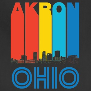 Retro Akron Ohio Skyline - Adjustable Apron