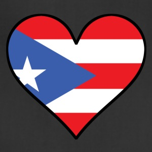 Puerto Rican Flag Heart - Adjustable Apron