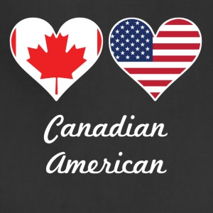 Canadian American Flag Hearts - Adjustable Apron