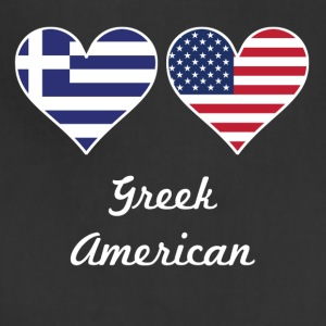 Greek American Flag Hearts - Adjustable Apron