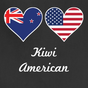 Kiwi American Flag Hearts - Adjustable Apron