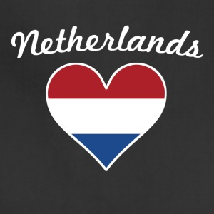 Netherlands Flag Heart - Adjustable Apron