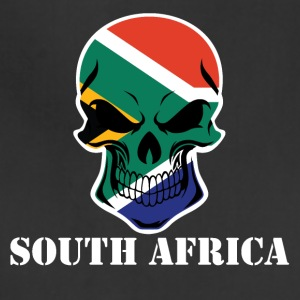 South African Flag Skull South Africa - Adjustable Apron