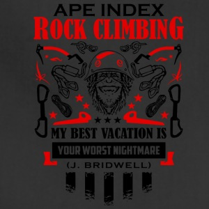 ApeIndex RockClimbing Black Red - Adjustable Apron