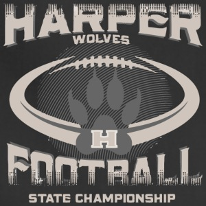 Harper Wolves H Football State Championship - Adjustable Apron