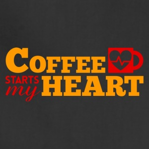 COFFEE STARTS MY HEART - Adjustable Apron