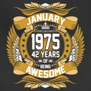 Anuary 1975 42 Years Of Being Awesome - Adjustable Apron