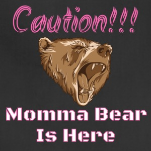 Caution Momma Bear Is Here Pink - Adjustable Apron