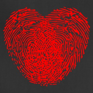 Human thumbprint red love heart symbol - Adjustable Apron