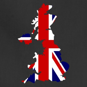 British Flag Map United Kingdom Symbol - Adjustable Apron