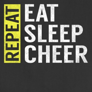 Eat Sleep Cheer Repeat Funny Cheerleader Gag Gift - Adjustable Apron