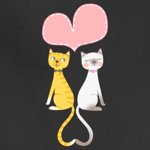 Couple of cats with heart - Adjustable Apron