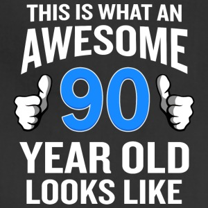90 Year Old Birthday Funny Senior Man or Woman - Adjustable Apron