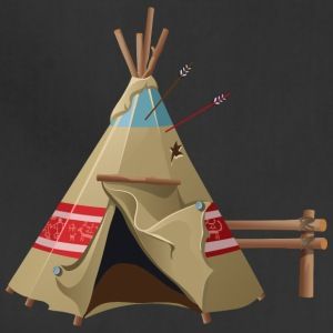 Indian wigwam house cool art illustration awesome - Adjustable Apron