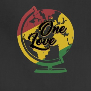 One Love T-Shirt Rasta Reggae Men World Gift - Adjustable Apron