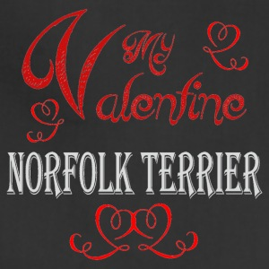 A romantic Valentine with my Norfolk Terrier - Adjustable Apron