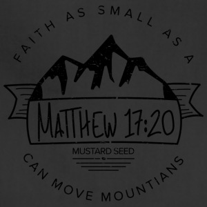 Matthew 17:20 (Black) - Adjustable Apron