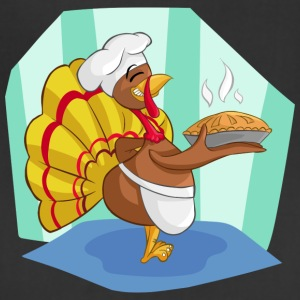Thanksgiving Turkey Pumpkin Comic Style Motive - Adjustable Apron