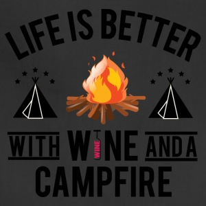 Wine And Campfire - Adjustable Apron