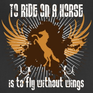 To ride on a horse is to fly without wings - Adjustable Apron