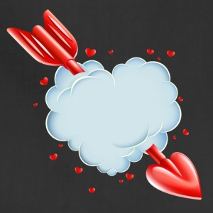 Valentine s Day Cloud Heart love tshirt - Adjustable Apron