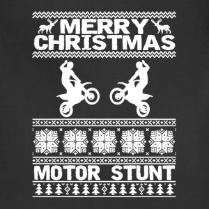 Merry Christmas Motor Stunt Shirt - Adjustable Apron