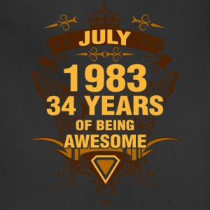 July 1983 34 Years of Being Awesome - Adjustable Apron