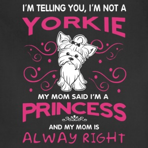 Yorkie Princess Shirt - Adjustable Apron