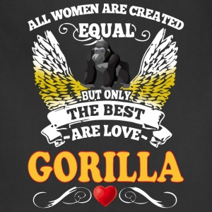 Best Woman Are Love Gorilla - Adjustable Apron