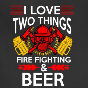 I love Fire Fighter And Beer T-shirt - Adjustable Apron