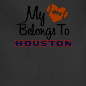 My heart belongs to Houston - Adjustable Apron