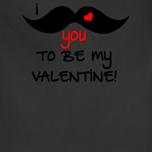 I Mustache You To Be My Valentine - Adjustable Apron