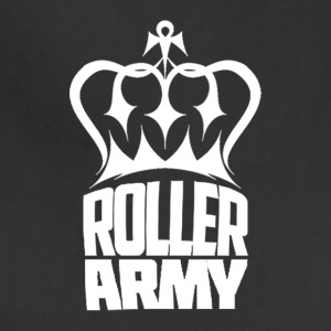 Roller Army Logo White - Adjustable Apron