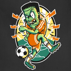 Frankenstein-plays-soccer-ball-cartoon - Adjustable Apron