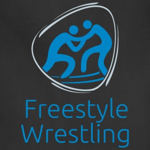 Freestyle_wrestling_blue - Adjustable Apron