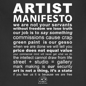 Artist Manifesto - Adjustable Apron
