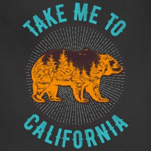 California symbol emblem bear inscription animal - Adjustable Apron