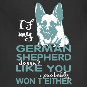German Shepherd T shirt - Adjustable Apron