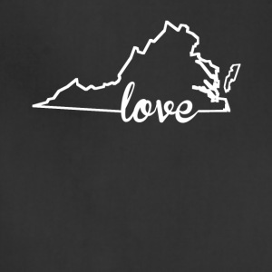 Virginia Love State Outline - Adjustable Apron
